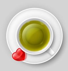 Romantic tea drinking vector image