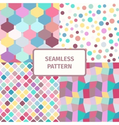 Seamless abstract geometric pattern set vector