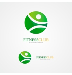 Set colorful fitness logo vector