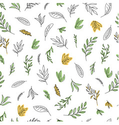 simple hand-painted line art vector image
