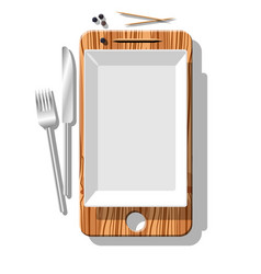 smartphone metaphore for different advert concepts vector image