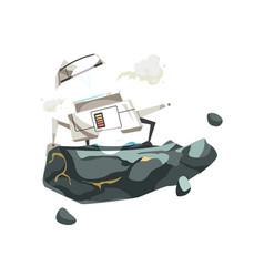 space exploration cartoon icon vector image