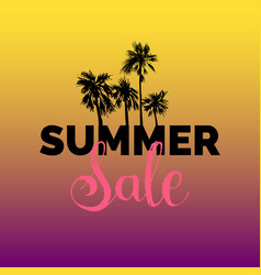 summer sale lettering background season vector image