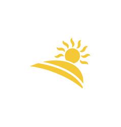 sun landscape icon - simple element summer vector image