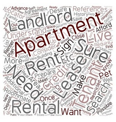 The Apartment Search text background wordcloud vector