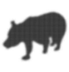 The silhouette of the bear half tone effect vector