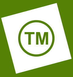 Trade mark sign white icon obtained as a vector