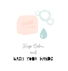 Wash your hands cartoon vector