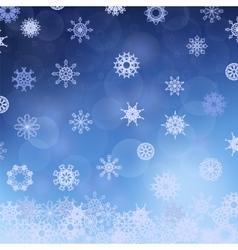 Winter Snowflake Blue Pattern vector image