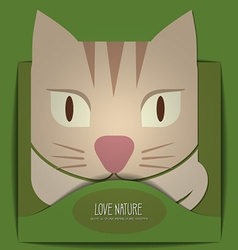With nature and cat vector