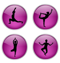 Yoga buttons vs vector