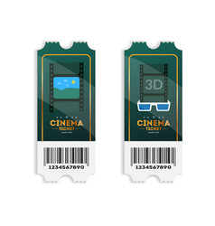 colorful template of cinema tickets vector image