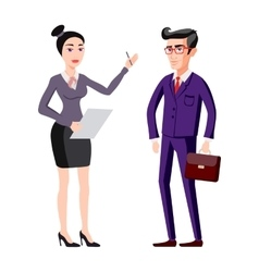full length picture of a young business man and vector image vector image