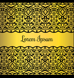 gold lace style card design vector image vector image