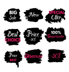 grange texture sale banners price tag vector image
