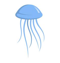 jellyfish icon cartoon style vector image