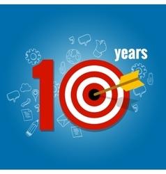 Ten years target and plan in business calendar vector