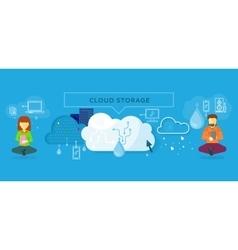 Cloud storage design flat concept vector