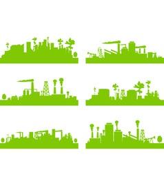 eco factories vector image