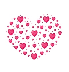 Jewel heart shaped valentines day love romance vector