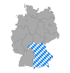 Map of Germany with flag of Bavaria vector image vector image
