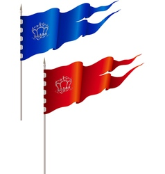 Red and blue flags vector image