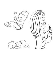 sleeping child crying baby vector image