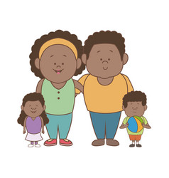 african american family father mother son and vector image vector image
