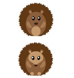 cute hedgehogs vector image