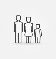 family simple icon vector image
