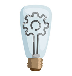 gear lamp concept isolated vector image
