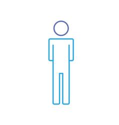line man pictogram icon flat vector image