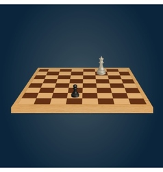 Wood chessboard vector image