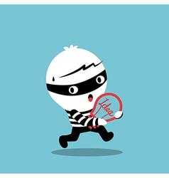 piracy thief stealing idea bulb cartoon vector image vector image