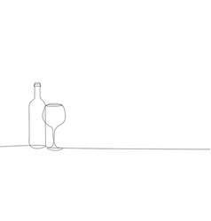 a bottle wine and glass icon vector image