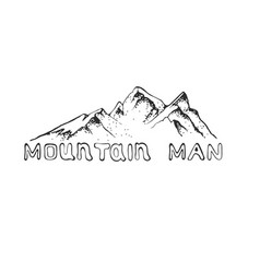 A mountain peak with pine vector