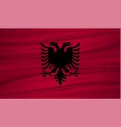 albania flag albania flag blowig in the wind eps vector image