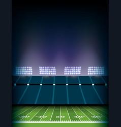 american football field stadium background vector image