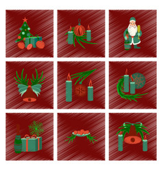 Assembly flat shading style christmas tree bells vector