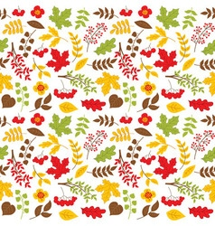 Autumn Leaves Seamless Pattern vector