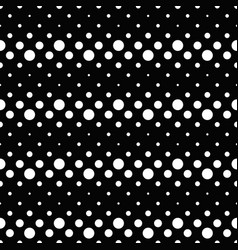 black and white seamless retro dot pattern vector image