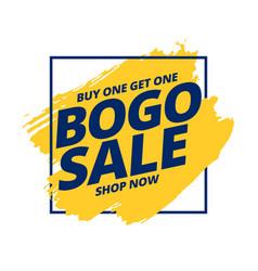 Buy one get one free bogo sale background vector