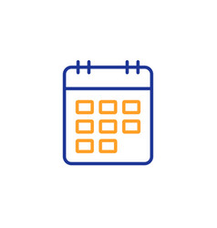 calendar line icon event reminder sign vector image
