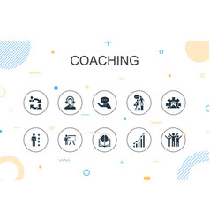 coaching trendy infographic template thin line vector image