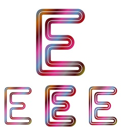 Colorful letter e logo design set vector image