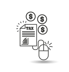 Concept taxes online money icon vector