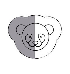 contour face bear icon vector image