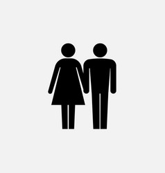 Couple icon family icon husband and wife logo vector