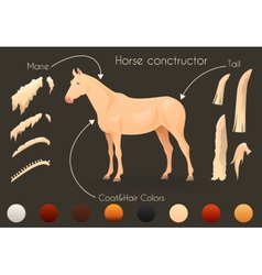Create your own horse design withconstructor vector