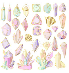 crystals set vector image